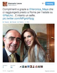 giancarlo-leone-veronica-maya-twitter